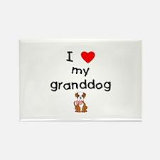 I love my granddog (bulldog) Rectangle Magnet (100