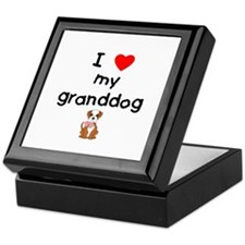 I love my granddog (bulldog) Keepsake Box