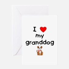 I love my granddog (bulldog) Greeting Card