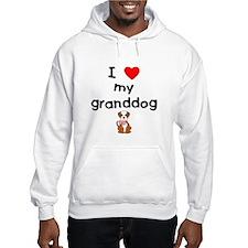 I love my granddog (bulldog) Hoodie