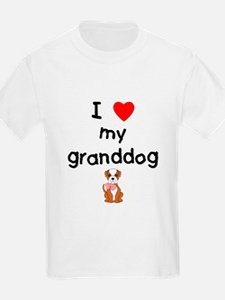 I love my granddog (bulldog) T-Shirt