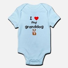 I love my granddog (bulldog) Infant Bodysuit
