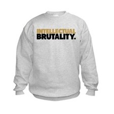 Intellectual Brutality Black and Gold Sweatshirt