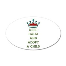 KEEP CALM AND ADOPT A CHILD Wall Decal