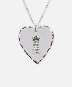 KEEP CALM AND ADOPT A CHILD Necklace