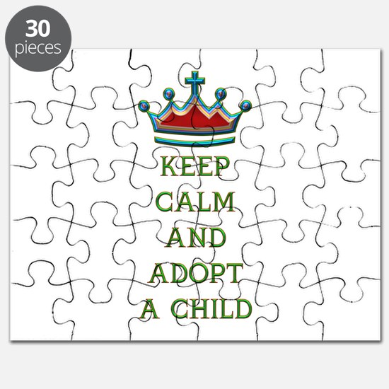 KEEP CALM AND ADOPT A CHILD Puzzle