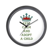 KEEP CALM AND ADOPT A CHILD Wall Clock