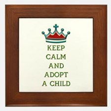 KEEP CALM AND ADOPT A CHILD Framed Tile