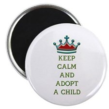 """KEEP CALM AND ADOPT A CHILD 2.25"""" Magnet (100 pack"""