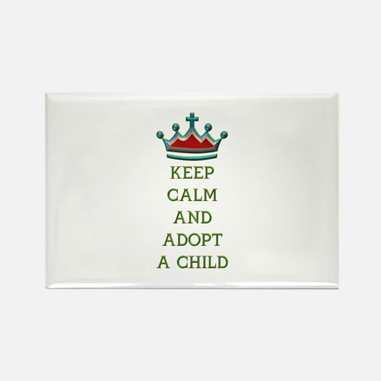 KEEP CALM AND ADOPT A CHILD Rectangle Magnet