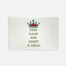 KEEP CALM AND ADOPT A CHILD Rectangle Magnet (100
