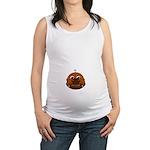 Baby Peeking Behind A Football Maternity Tank Top