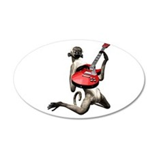 Monkey Playing Guitar Wall Decal