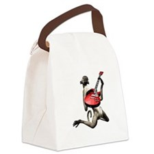 Monkey Playing Guitar Canvas Lunch Bag