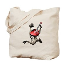 Monkey Playing Guitar Tote Bag