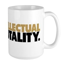 Intellectual Brutality Black and Gold Mugs