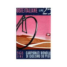 Vintage 1968 Italy Bicyle Velodro Rectangle Magnet