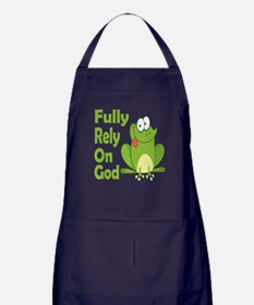 Fully Rely On God Apron (dark)