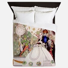 Bluebeard and His Lady By Kay Nielsen Queen Duvet