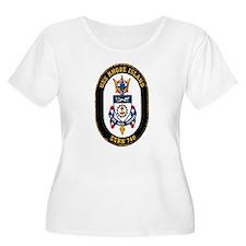 USS Rhode Island Women's Plus Size Scoop Neck Tee