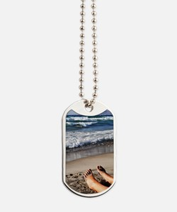 Relaxing feet Dog Tags