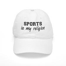 Sports Is My Religion Baseball Cap