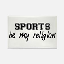 Sports Is My Religion Rectangle Magnet