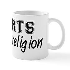 Sports Is My Religion Coffee Mug