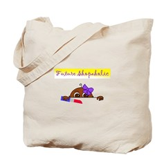 Future Shopaholic (Dark Skin) Tote Bag