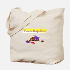 Future Shopaholic (Dark Skin) Tote Bag