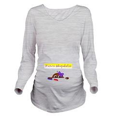 Future Shopaholic (Dark Skin) Long Sleeve Maternit