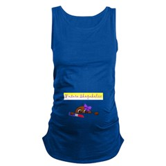 Future Shopaholic (Dark Skin) Maternity Tank Top