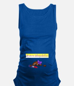 Future Shopaholic (Dark Skin) Maternity Tank Top