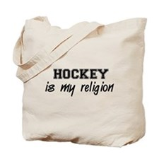Hockey Is My Religion Tote Bag
