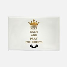 KEEP CALM AND PRAY FOR PRIESTS Rectangle Magnet
