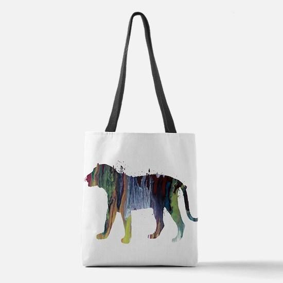 Tiger Polyester Tote Bag