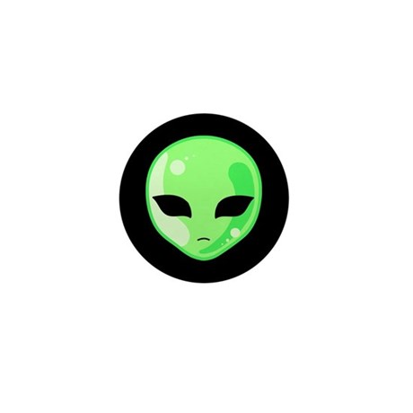Alien Invader Mini Button (100 pack)