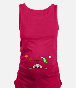 Baby BOY Peeking Maternity Tank Top