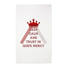 KEEP CALM AND TRUST IN GOD'S MERCY 3'x5' Area Rug