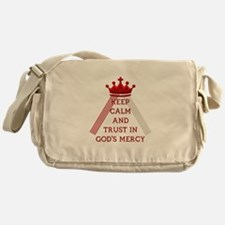 KEEP CALM AND TRUST IN GOD'S MERCY Messenger Bag