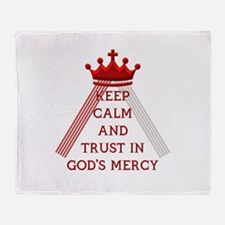 KEEP CALM AND TRUST IN GOD'S MERCY Throw Blanket