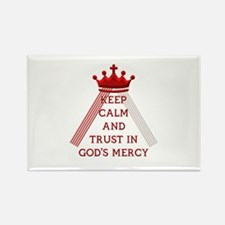 KEEP CALM AND TRUST IN GOD'S MERCY Rectangle Magne