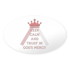 KEEP CALM AND TRUST IN GOD'S MERCY Decal