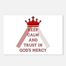 KEEP CALM AND TRUST IN GOD'S MERCY Postcards (Pack