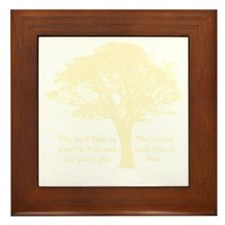 Plant a Tree Now Framed Tile