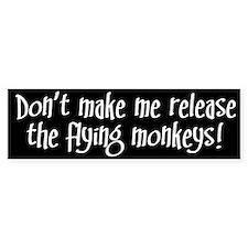 Flying Monkeys Bumper Car Sticker