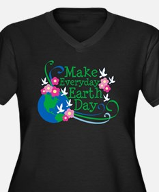 Make Everyday Earth Day Women's Plus Size V-Neck D