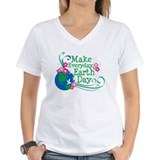 Earth day Womens V-Neck T-shirts