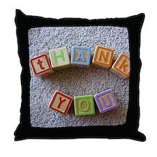 Thank You Alphabet Blocks Throw Pillow