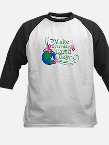 Make Everyday Earth Day Kids Baseball Jersey